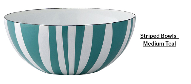 Striped Bowl - Medium Teal