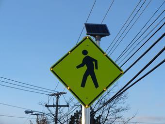 Walking sign.