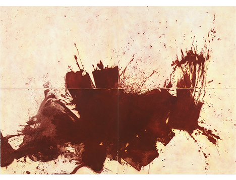 Image: Howard Hodgkin; Delhi, 2012. Overall paper and image size 174.0 x 244.0 cm. Edition of 8.