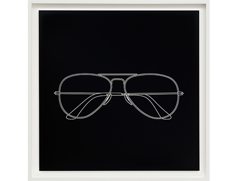 Micheal Craig-Martin;  Glasses from Quotidian, 2017